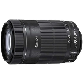 佳能(Canon)EF-S 55-250mm f/4-5.6 IS STM 远摄变焦镜头(拆机头) 黑色